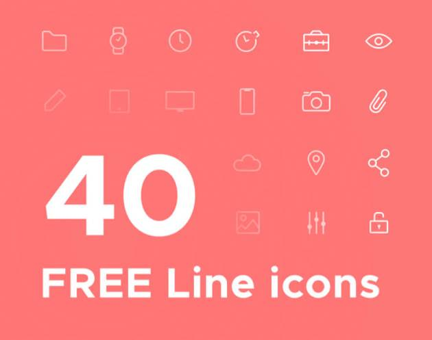 40 Line Free Icons