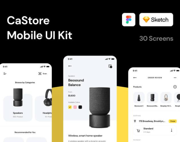 CaStore Mobile UI Kit