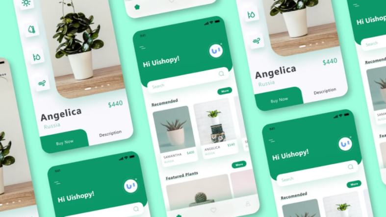 Plant Shop Mobile App Free for XD