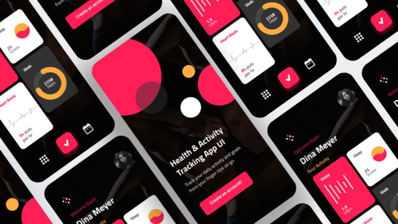 Gym Fitness App Design Free