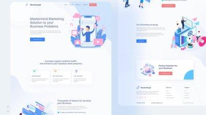 MarketingX Agency Website Free