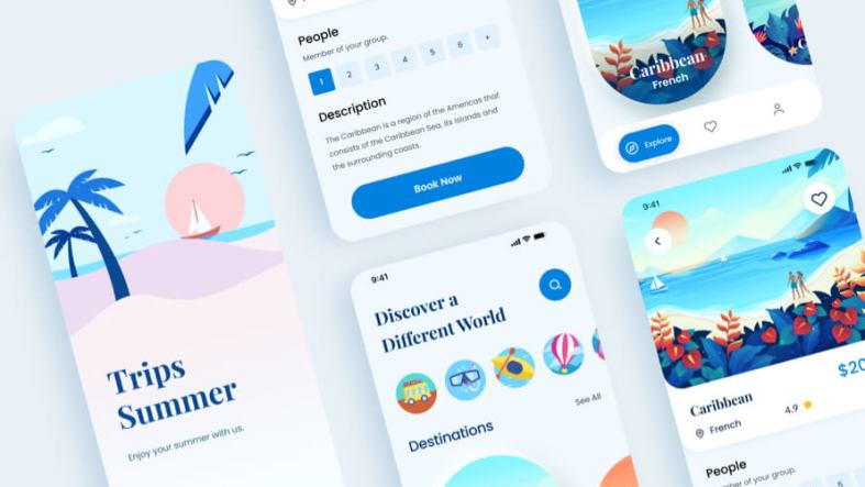 Travel App Free UI Kit for Figma