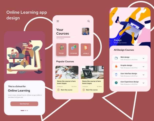 Edulake Online Course UI Kit Free