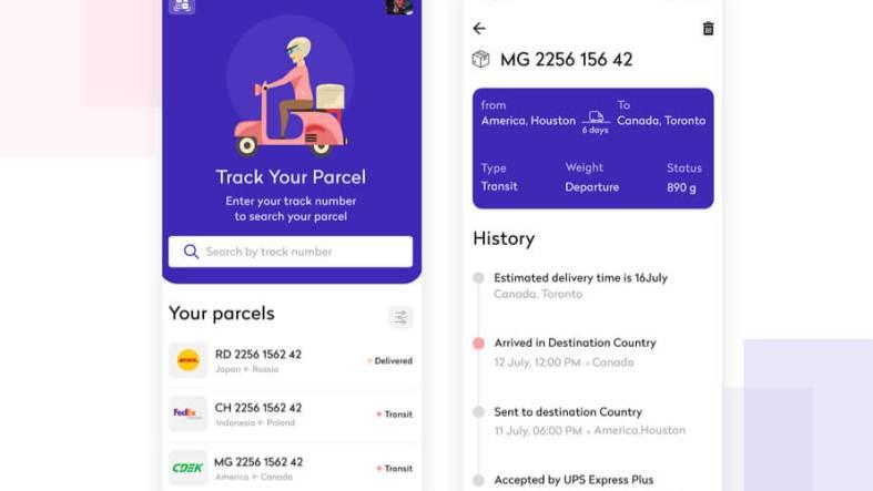 Parcel Tracking App Design Free