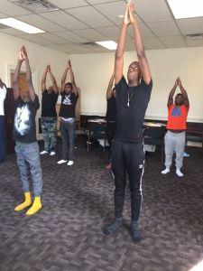 Center's First Yoga Class
