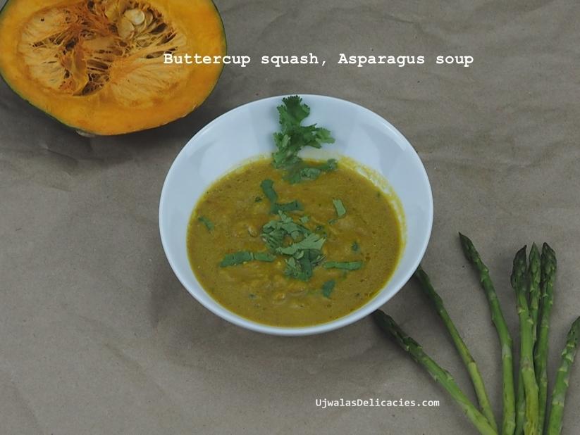 Stock-free Buttercup squash, asparagus soup