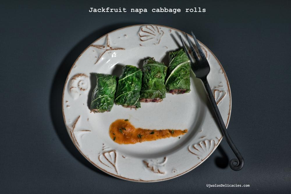 Jackfruit Napa cabbage rolls