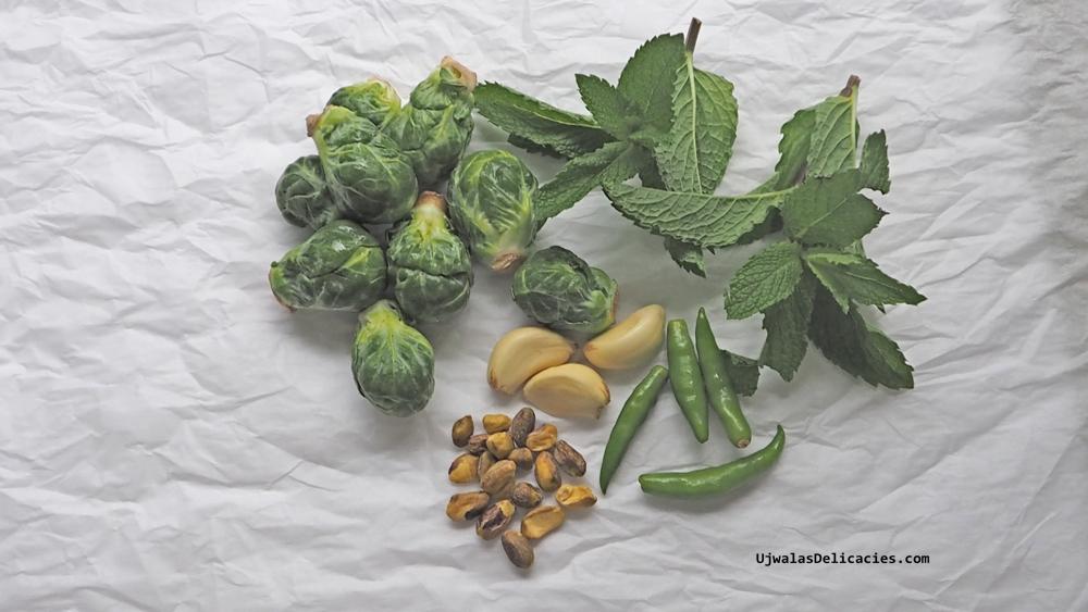 Brussels Sprouts Mint Pistachio