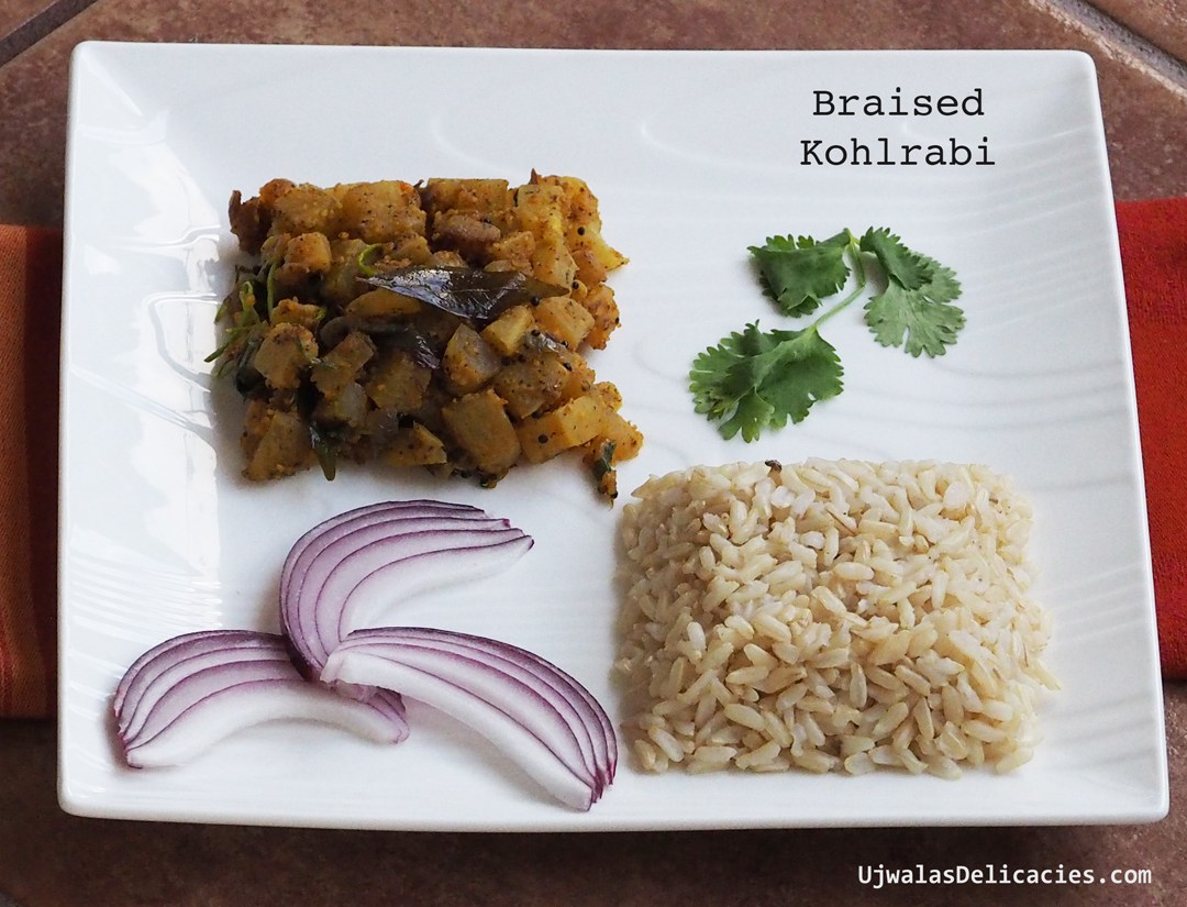 Braised Kohlrabi with magic spice