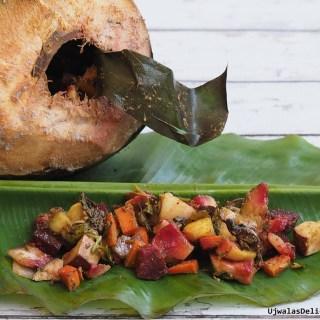 Veggies cooked in Coconut