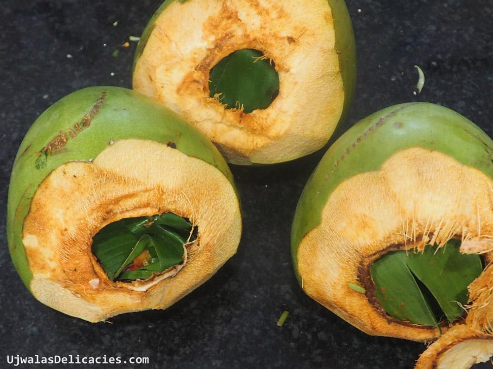 Banana Stuffed Coconuts