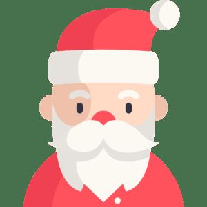 Santa at Christmas
