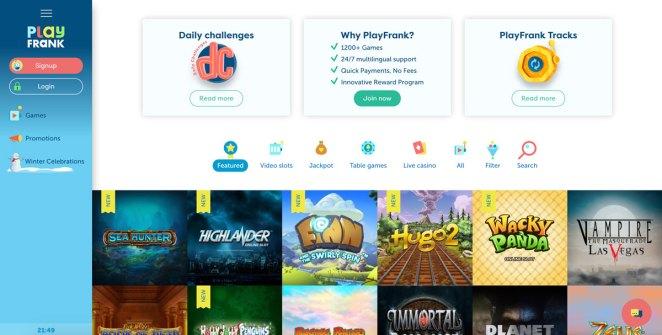 PlayFrank Online Slots