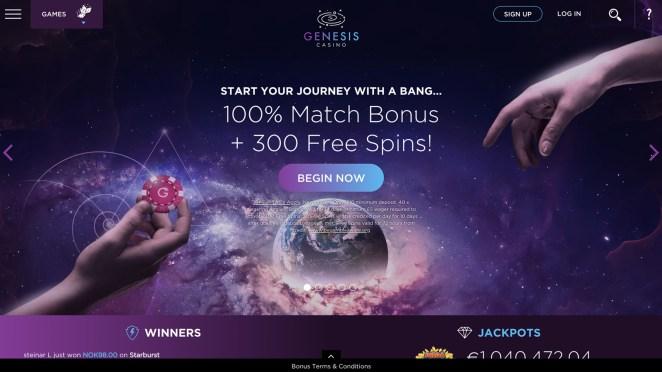 Genesis Casino Homepage