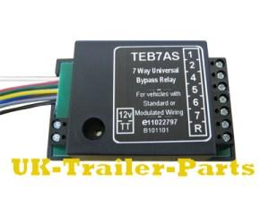 7 Way universal bypass relay wiring diagram | UKTrailerParts