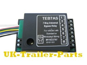 7 Way universal bypass relay wiring diagram | UKTrailerParts