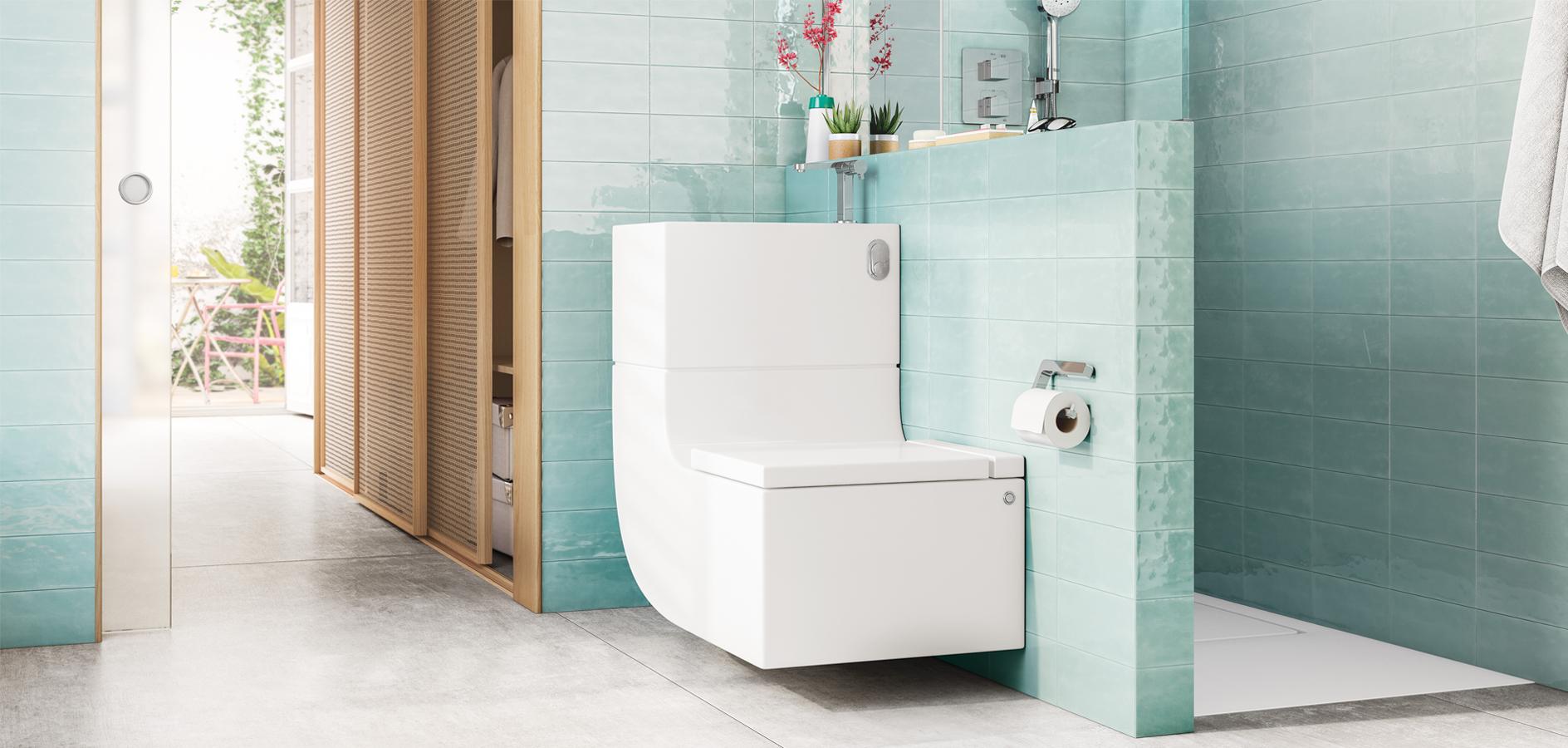 water saving basin and toilet
