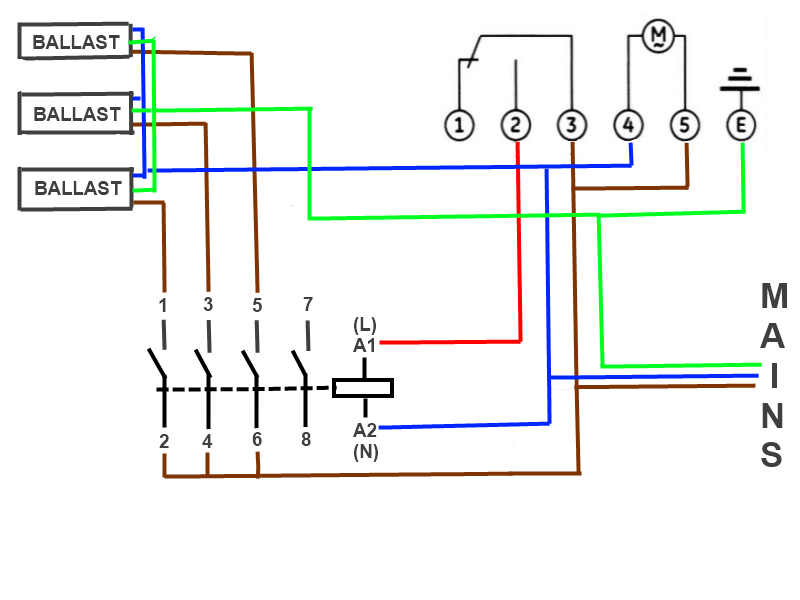 lighting contactor wiring diagram ge cr460b lighting