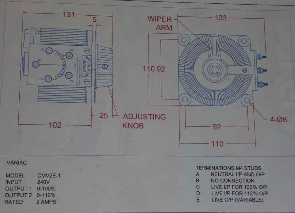 Help Wiring A Single Variac Transformer