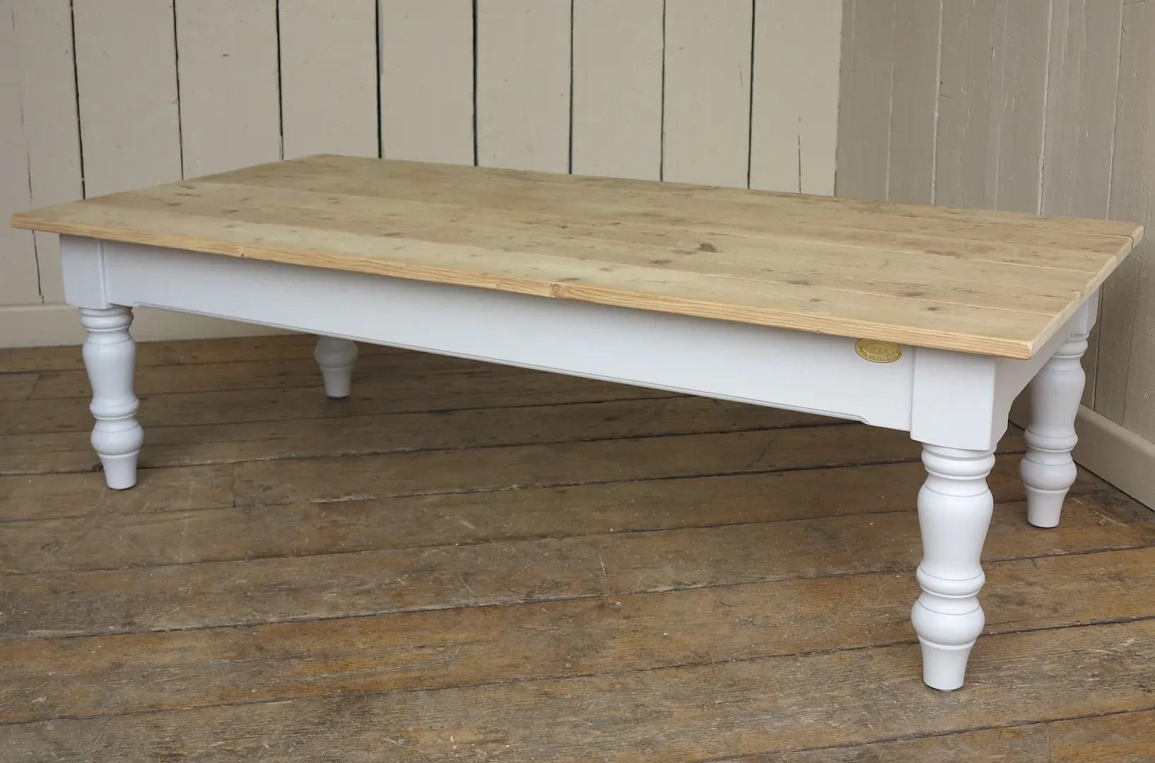 bespoke reclaimed old pine scrub top coffee table
