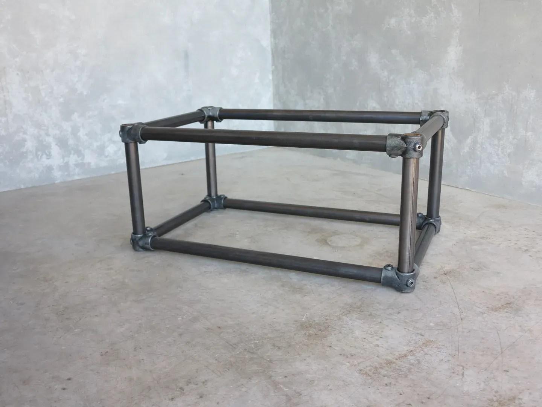bespoke galvanised steel coffee table base