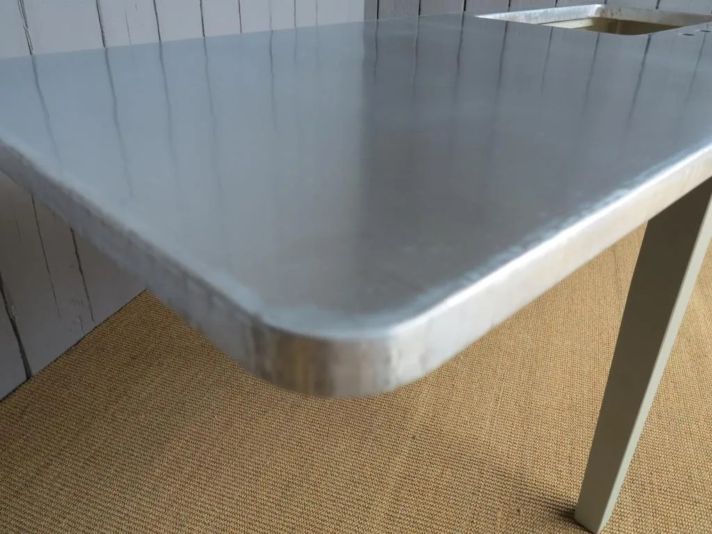 Natural Zinc Kitchen Worktops