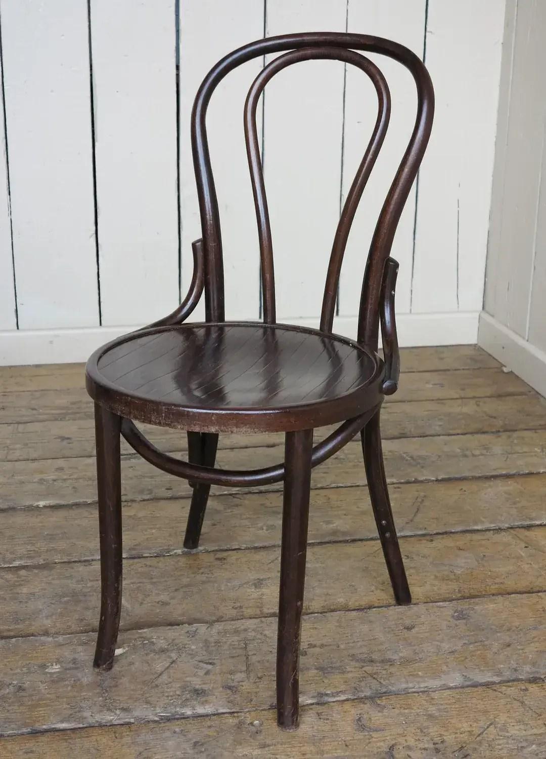 Wooden Vintage Vintage Reclaimed Bistro Bentwood Chairs
