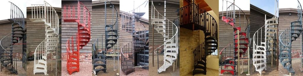 Spiral Staircase And Stairs For Sale In The Uk | Wooden Spiral Staircase For Sale | 3 Floor | Twist | Wrought Iron | 36 Inch Diameter | Free Standing
