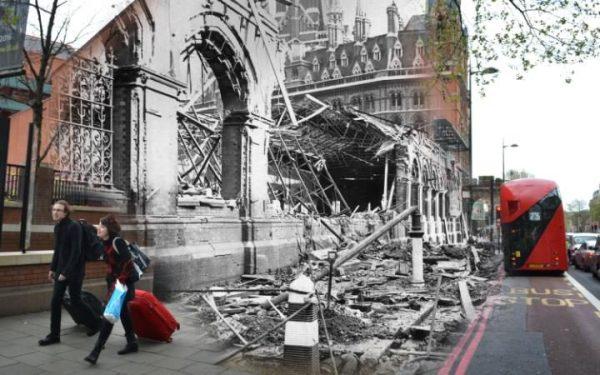 19 septembre 1940, près de St Pancras Station.