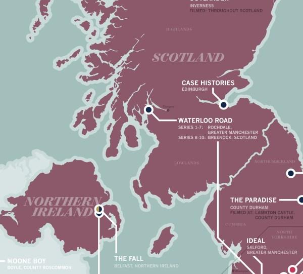 Carte TV Britannique du Nord