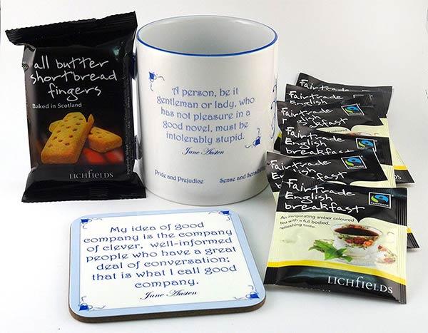 Coffret thé et biscuits Jane Austen