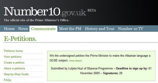 Petition: to make the Albanian language a GCSE subject