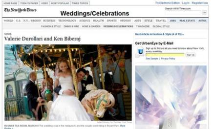 Diaspora: Martesa shqiptare në NY Times