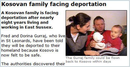 Familja kosovare i shpëton deportimit