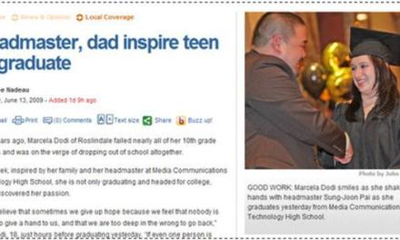 Arsimtari dhe babai frymëzojnë tinejxheren