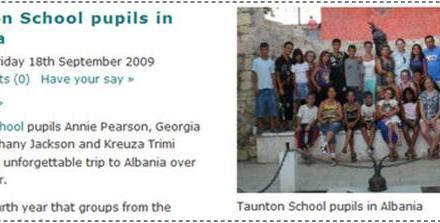Nxënës britanikë vizitojnë Shqipërinë