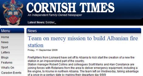 Cornish Times article
