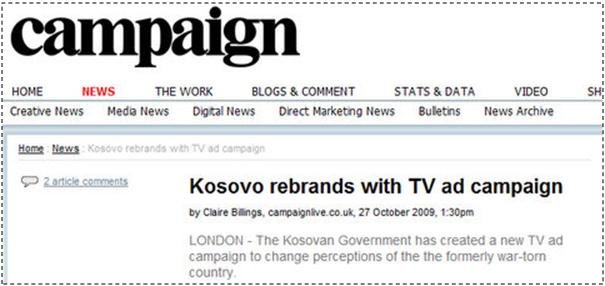 Kosovo Saatchi & Saatchi TV ad campaign