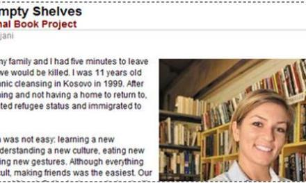 An immigrant who shipped 15,000 books to Kosova