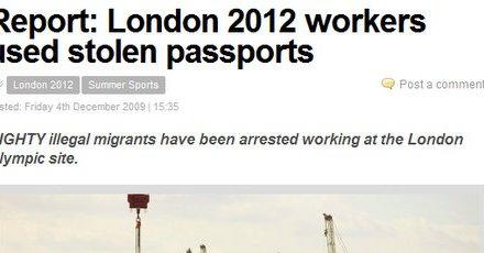 Kapen imigrantë ilegalë në punishtet e Olimpiadës 2012