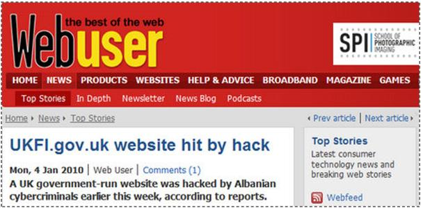 Sulmohet uebsajti qeveritar britanik nga hakerët shqiptarë