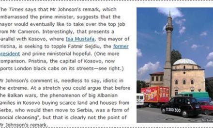 Një artikull anti-Kosovë në The Economist