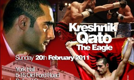 Kreshnik Qato's new boxing match on 20th February