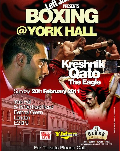 Kreshnik Qato's new boxing match on 20th February