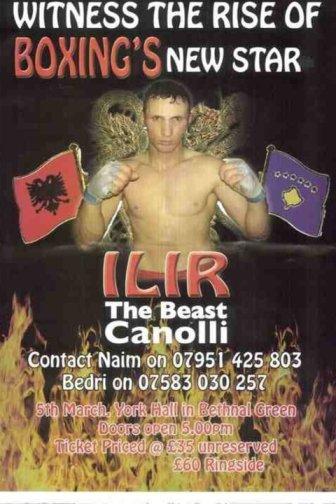 Ilir Canolli - boks ne Londer me 5 mars 2011