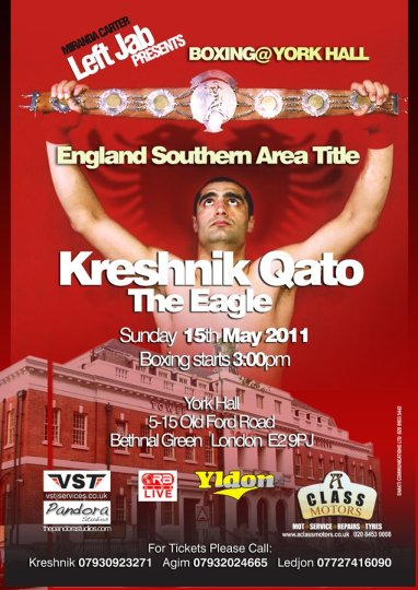 Boxing: Kreshnik Qato (Left Jab) vs Gary Boulden, 15th May 2011 in London
