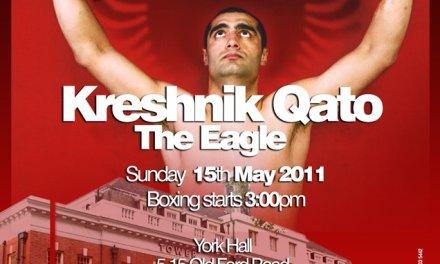 <!--:en-->Boxing: Kreshnik Qato (Left Jab) vs Gary Boulden, 15th May 2011 in London<!--:--><!--:sq-->Boks: Kreshnik Qato (Left Jab) vs Gary Boulden, 15 maj 2011 në Londër<!--:-->