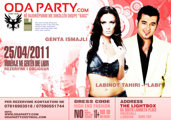 <!--:en-->Marketing: Genta Ismajli dhe Labi koncert në Londër 25 prill 2011<!--:--><!--:sq-->Marketing: Genta Ismajli dhe Labi koncert në Londër 25 prill 2011<!--:-->