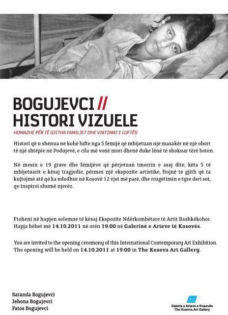 Ekspozitë: Bogujevci/ Histori vizuele, Prishtinë, 14 tetor 2011