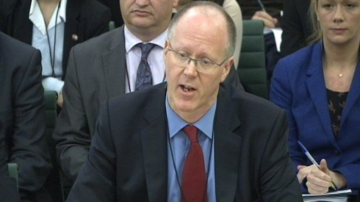 BBC director general George Entwistle gives evidence to the Culture, Media and Sport Select Committee